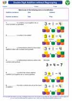 Mathematics - Second Grade - Vocabulary: Double Digit Addition without Regrouping