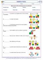 Mathematics - First Grade - Vocabulary: Addition Facts