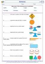 Mathematics - First Grade - Vocabulary: Attributes