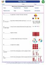 Mathematics - First Grade - Vocabulary: Place Value