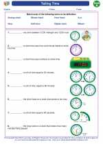 Mathematics - First Grade - Vocabulary: Telling Time