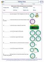 Mathematics - First Grade - Vocabulary: Telling Time
