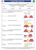 Mathematics - First Grade - Vocabulary: Greater Than, Less Than