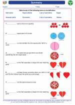 Mathematics - First Grade - Vocabulary: Symmetry