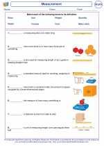 Mathematics - First Grade - Vocabulary: Measurement