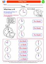 Mathematics - First Grade - Worksheet: Telling Time