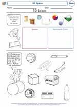 Mathematics - Kindergarten - Worksheet: 3D Space