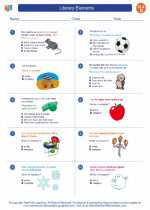 English Language Arts - Fourth Grade - Worksheet: Literary Elements