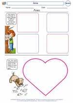 Mathematics - First Grade - Worksheet: Area