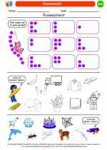 Mathematics - Kindergarten - Worksheet: Assessment