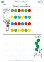 Mathematics - Kindergarten - Worksheet: Patterns and Algebra