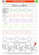 Mathematics - First Grade - Worksheet: Patterns and Algebra