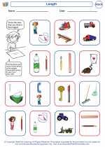 Mathematics - Kindergarten - Worksheet: Length