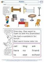 Mathematics - Kindergarten - Worksheet: Position