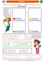 Mathematics - Kindergarten - Worksheet: 2D Space