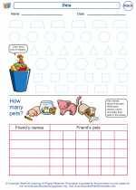 Mathematics - Kindergarten - Worksheet: Data