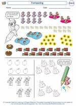 Mathematics - Kindergarten - Worksheet: Comparing
