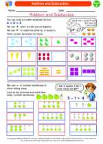 Mathematics - Second Grade - Worksheet: Addition and Subtraction
