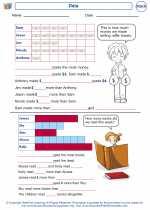 Mathematics - First Grade - Worksheet: Data