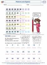 Mathematics - Second Grade - Worksheet: Patterns and Algebra