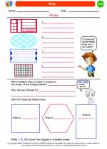 Mathematics - Kindergarten - Worksheet: Area