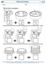 Mathematics - Kindergarten - Worksheet: Write the numbers