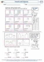 Mathematics - First Grade - Worksheet: Volume and Capacity