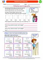 Mathematics - First Grade - Worksheet: Volume and Capacity