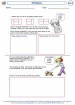 Mathematics - First Grade - Worksheet: 2D Space