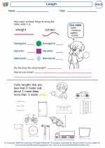 Mathematics - First Grade - Worksheet: Length