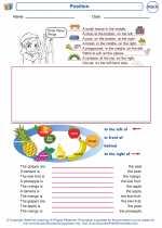 Mathematics - First Grade - Worksheet: Position