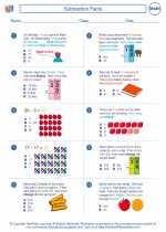 Mathematics - Second Grade - Worksheet: Subtraction Facts