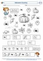 Mathematics - Kindergarten - Worksheet: Halloween Counting