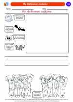 Social Studies - Kindergarten - Worksheet: My Halloween costume