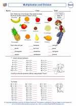 Mathematics - Third Grade - Worksheet: Multiplication and Division