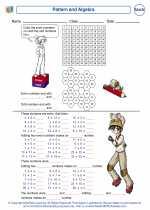 Mathematics - Second Grade - Worksheet: Pattern and Algebra