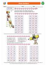 Mathematics - Third Grade - Worksheet: Whole Numbers