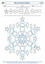 Mathematics - First Grade - Worksheet: Merry Christmas Shapes