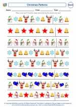 Mathematics - First Grade - Worksheet: Christmas Patterns