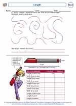 Mathematics - Second Grade - Worksheet: Length