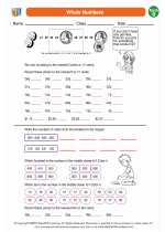 Mathematics - Second Grade - Worksheet: Whole Numbers
