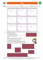 Mathematics - Second Grade - Worksheet: Area