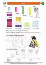 Mathematics - Second Grade - Worksheet: Area