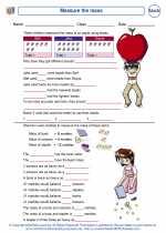 Mathematics - Second Grade - Worksheet: Measure the mass