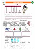Mathematics - Third Grade - Worksheet: Volume and Capacity