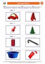 English Language Arts - Second Grade - Worksheet: Long Vowel Silent e