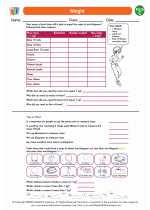 Mathematics - Third Grade - Worksheet: Weight