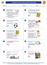 English Language Arts - Sixth Grade - Worksheet: Simple/Compound/Complex Sentences