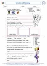 Mathematics - Fifth Grade - Worksheet: Volume and Capacity