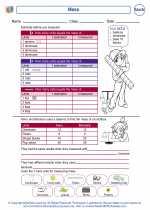 Mathematics - Second Grade - Worksheet: Mass